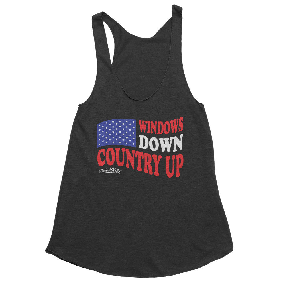 Windows Down Country Up Racerback