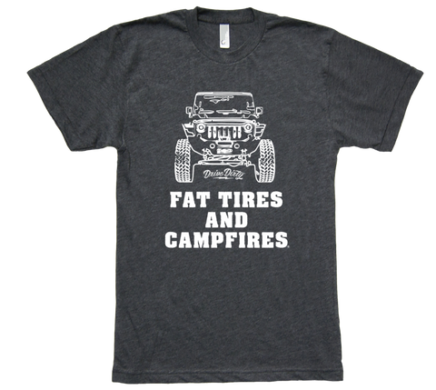 Fat Tires And Campfires Jeep Tee