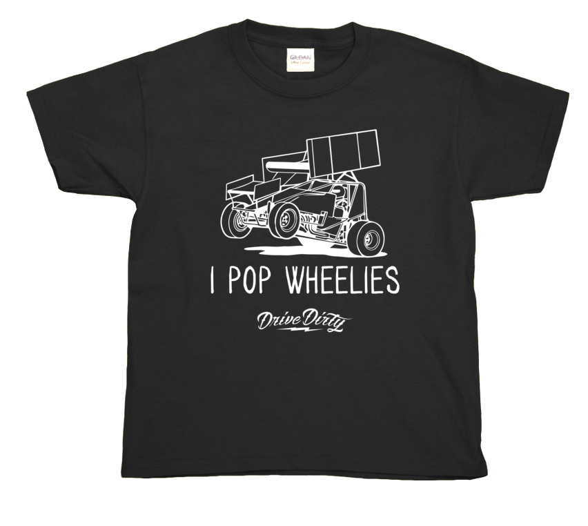 I Pop Wheelies Kids Tee
