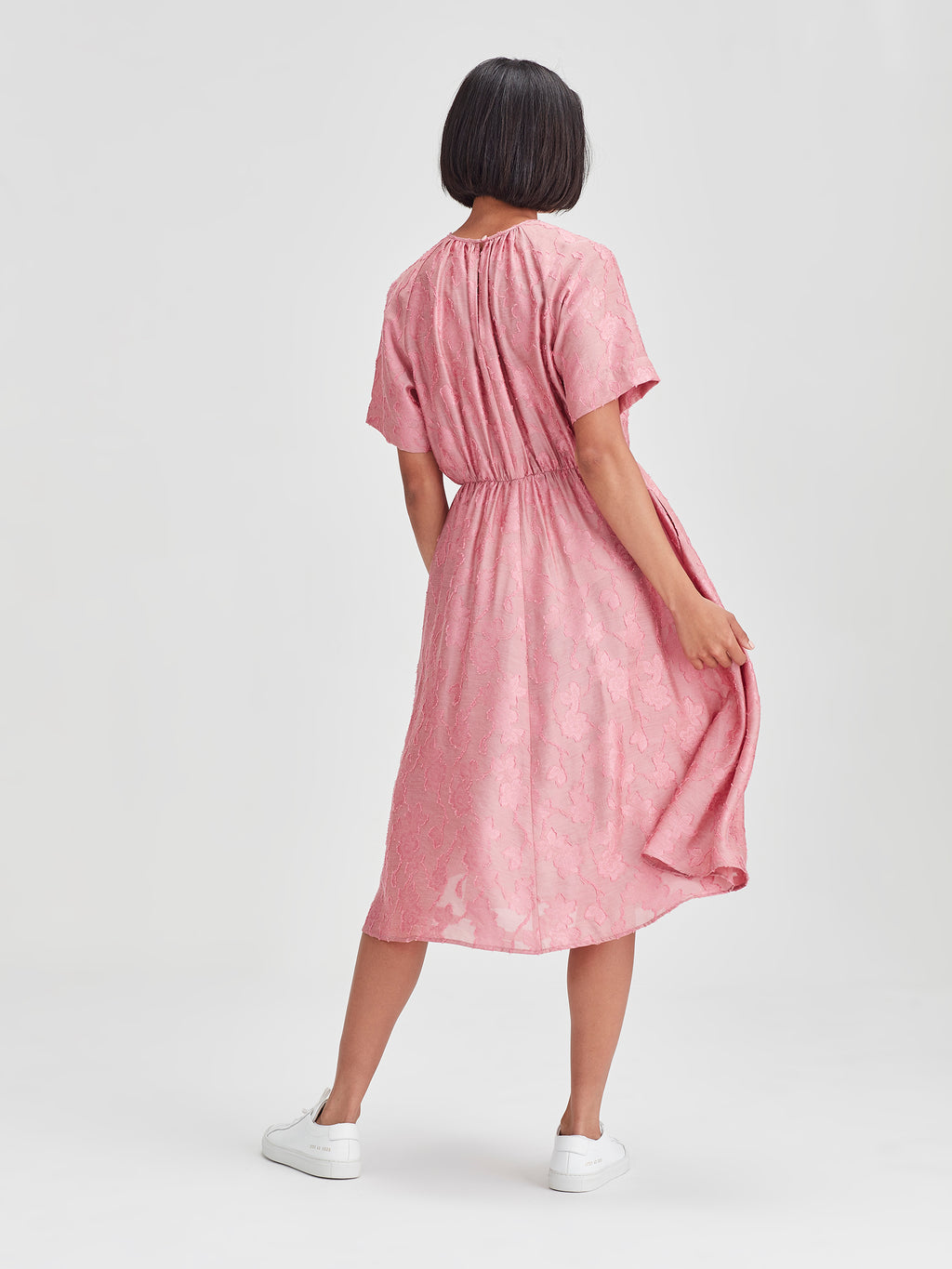 Katie Dress (Floral Night Jacquard) Rose