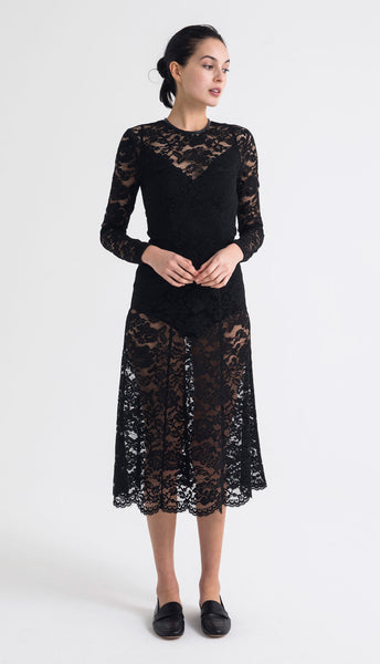 donna dress (scalloped lace)
