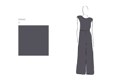 Ella Jumpsuit (Satin Triacetate) Smoke 1
