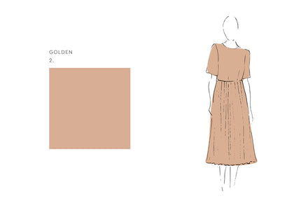 Alba Dress (Satin Triacetate) Golden 1
