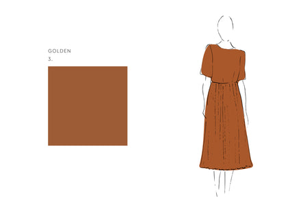 Alba Dress (Satin Triacetate) Golden 3