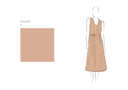 Fleur Dress (Satin Triacetate) Golden 1