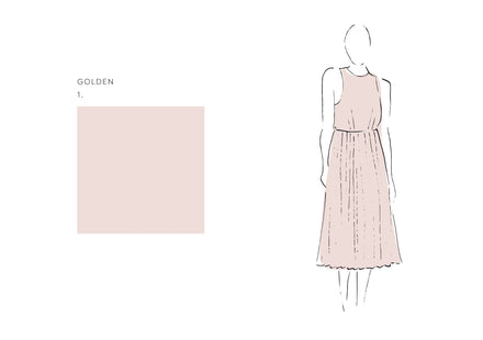 Francis Dress (Satin Triacetate) Golden 1