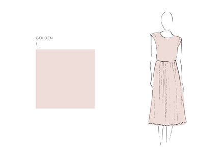 Oliver Dress (Satin Triacetate) Golden 2