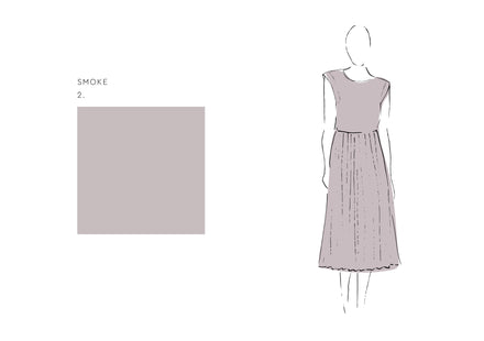 Ella Dress (Satin Triacetate) Smoke 1