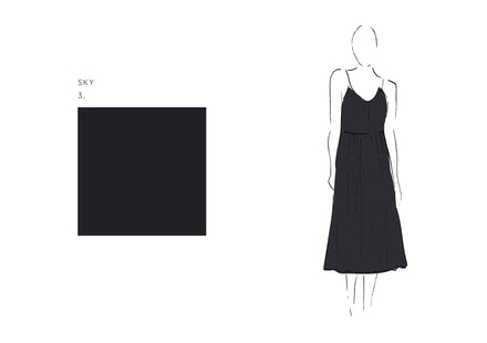Joan Dress (Satin Triacetate) Sky 2