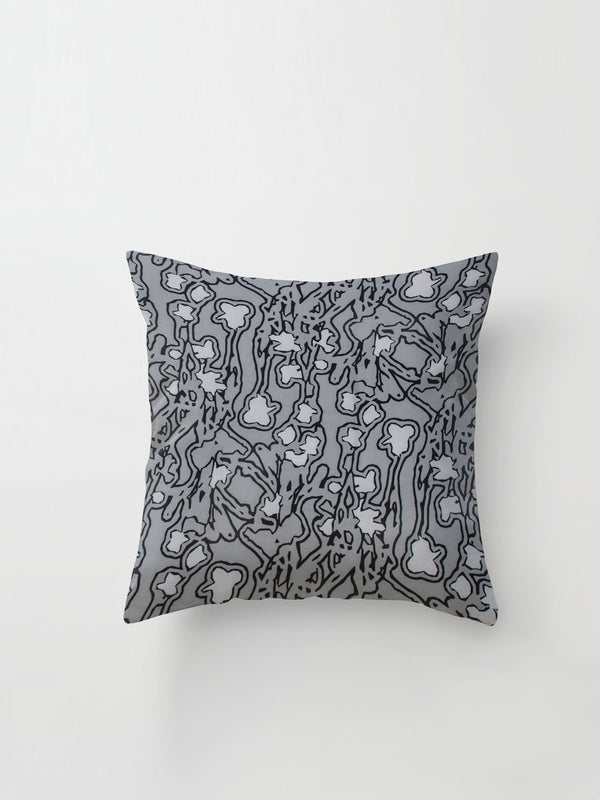 Medium Cushion Cover (Aerial Print) Graphite