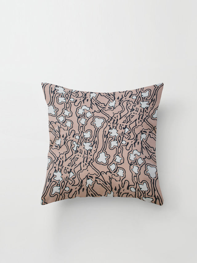 Medium Cushion Cover (Aerial Print) Pink Sand