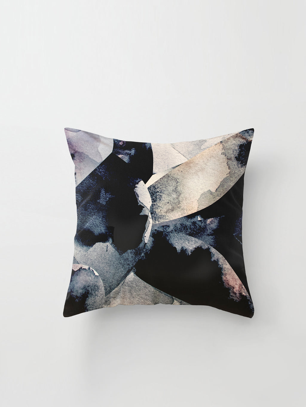 Large Cushion Cover (Collage Print) Watercolour