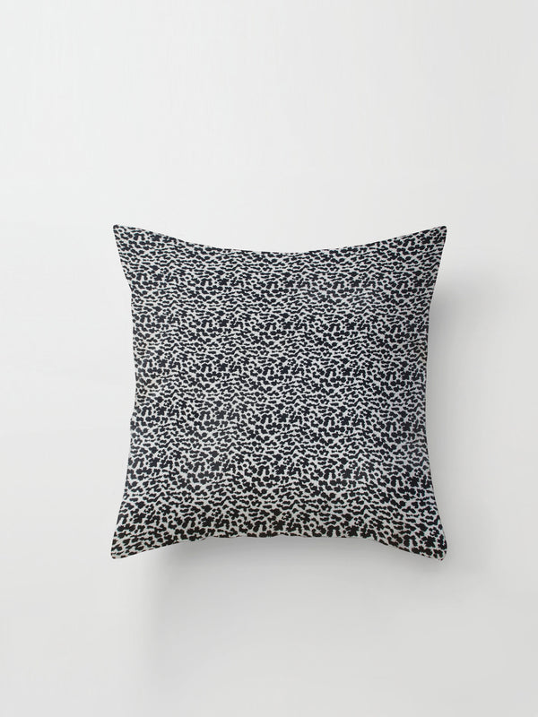 Large Cushion Cover (Dalmation Silk) Black