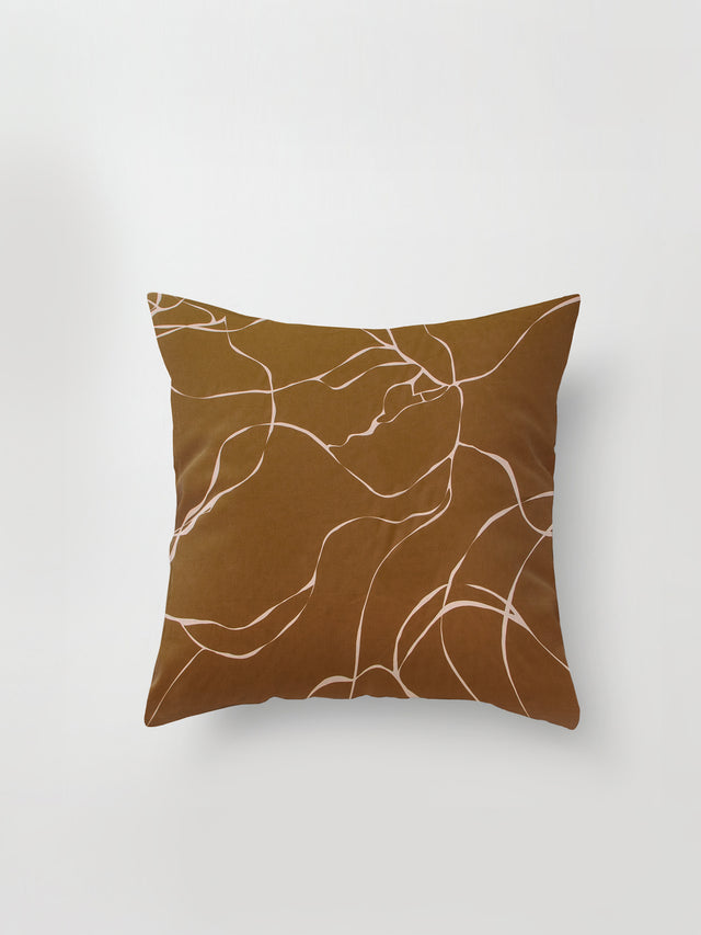 Medium Cushion Cover (Ribbon Poly) Tawny