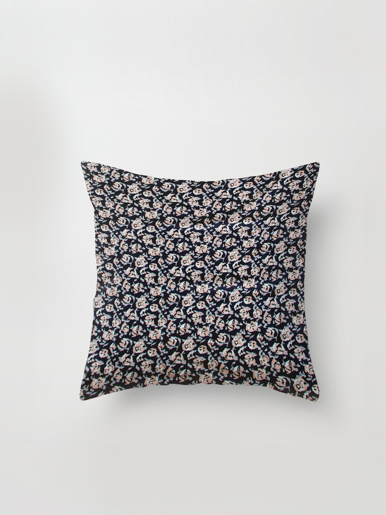 Large Cushion Cover (Scatter Floral Cotton) Night Rose