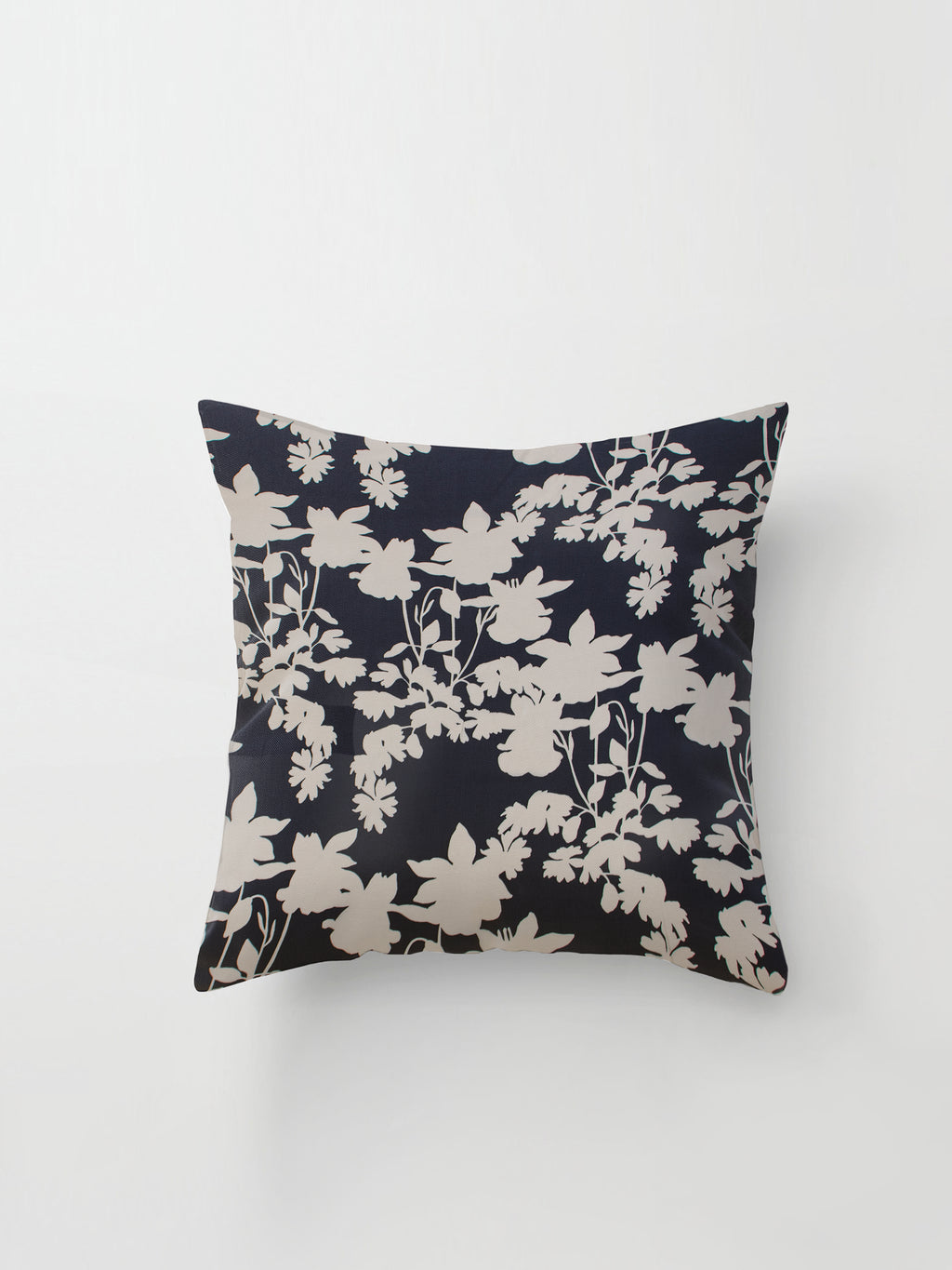 Large Cushion Cover (Shadow Floral) Silouhette