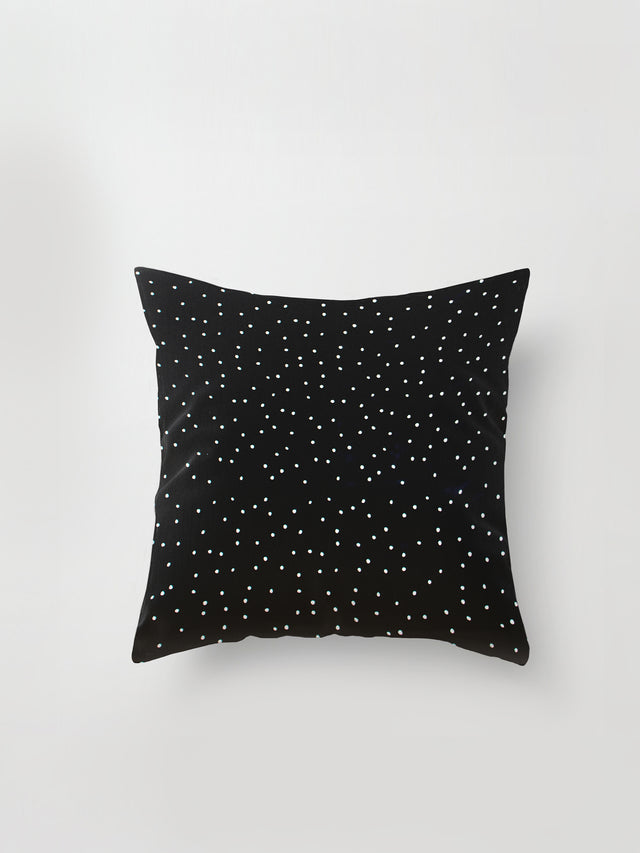 Medium Cushion Cover (Spotty Viscose) Black Dot