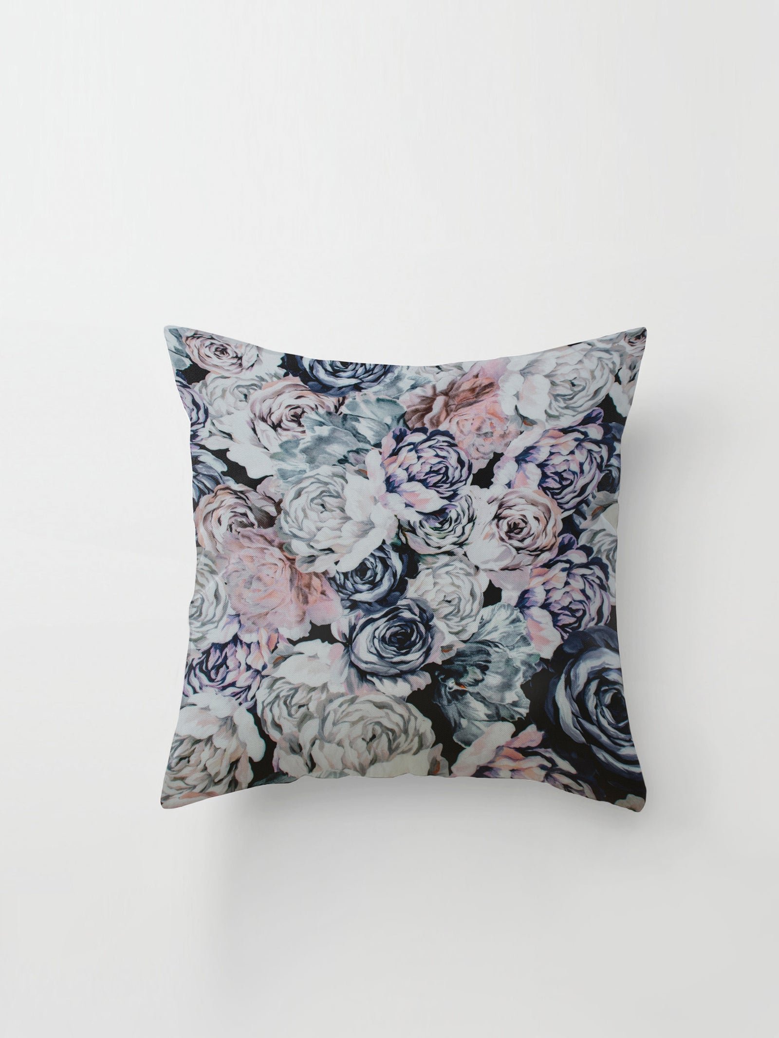 Large Cushion Cover (Floral Cotton) Pastel Garden