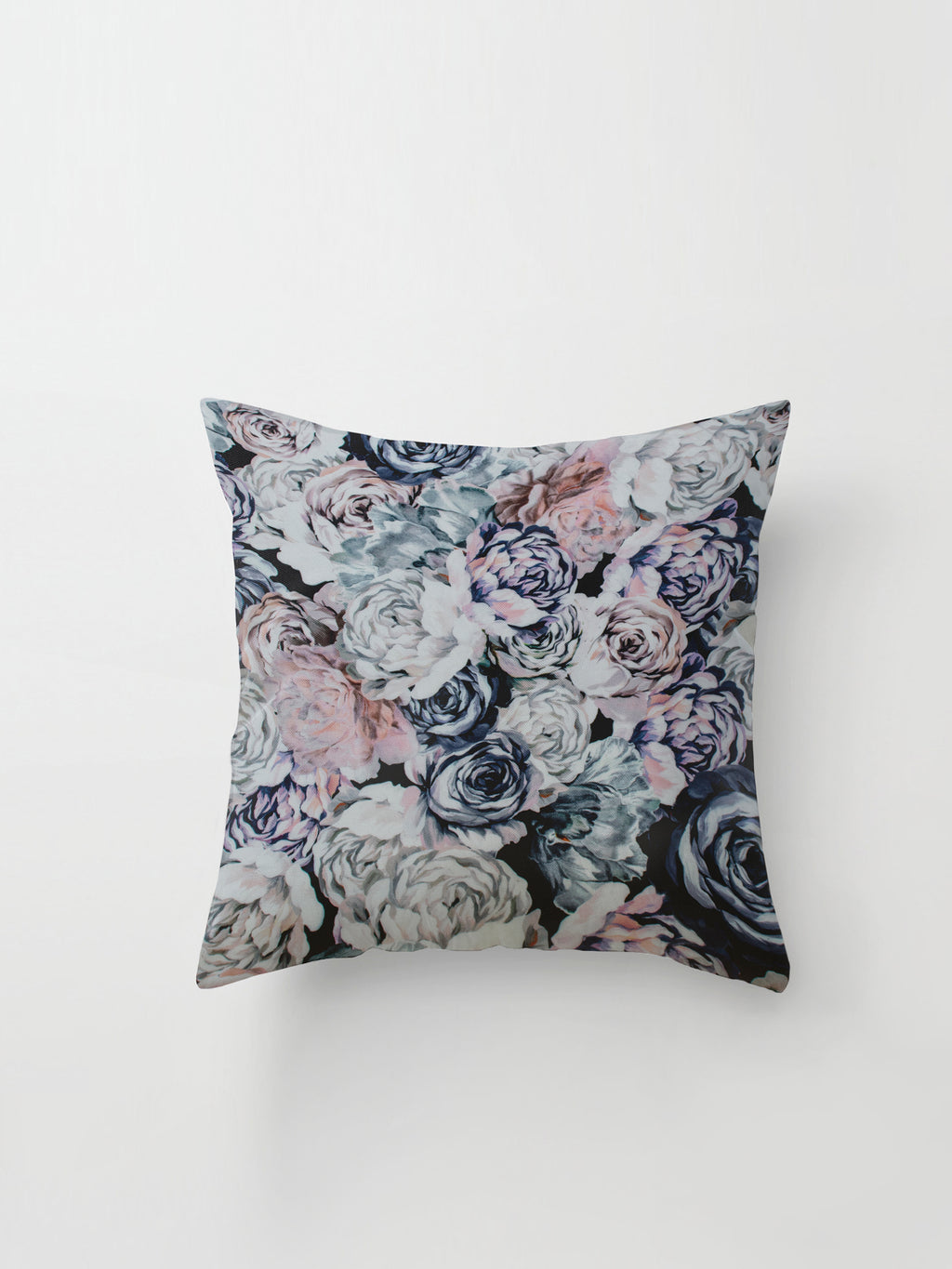 Medium Cushion Cover (Floral Cotton) Pastel Garden