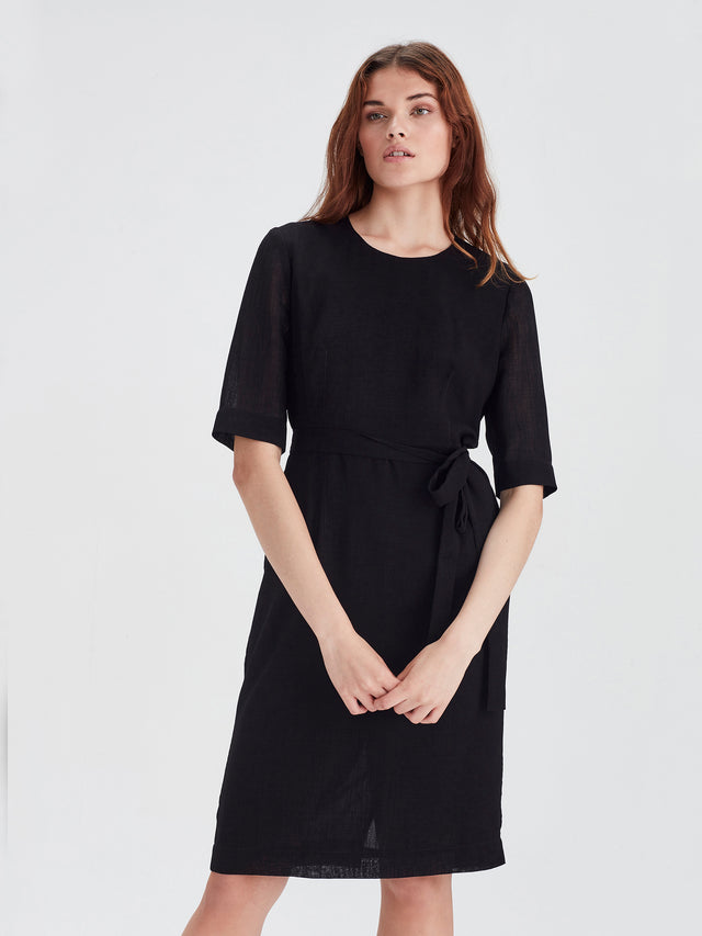 Botany Dress (Cross Hatch) Black