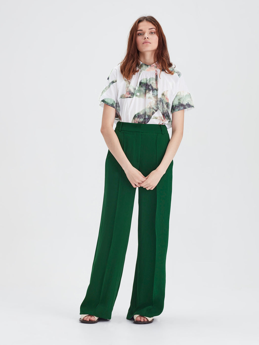 CeeCee Trouser (Luxe Coloured Suiting) Emerald