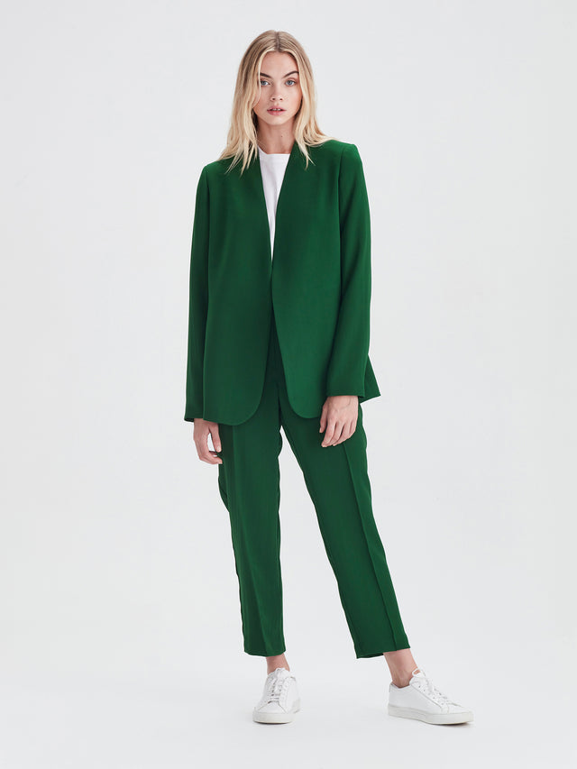 Lindsay Blazer (Luxe Coloured Suiting) Emerald