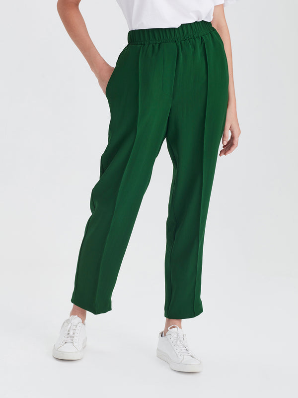 Tuck Pant (Luxe Coloured Suiting) Emerald