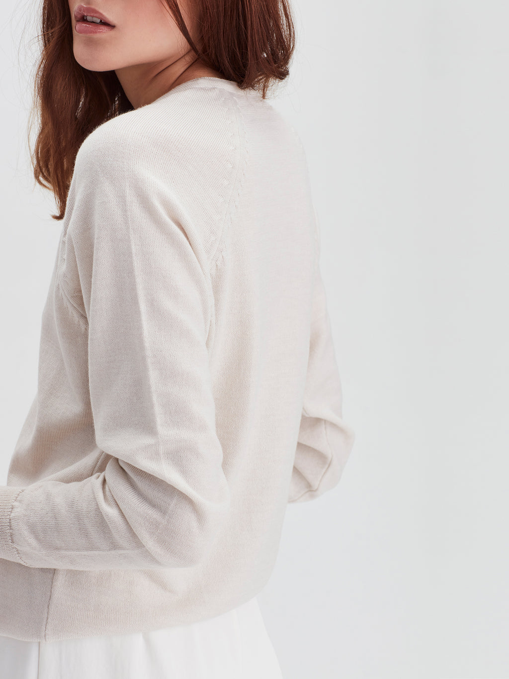 Academy Sweater (Merino Knit) Chalk