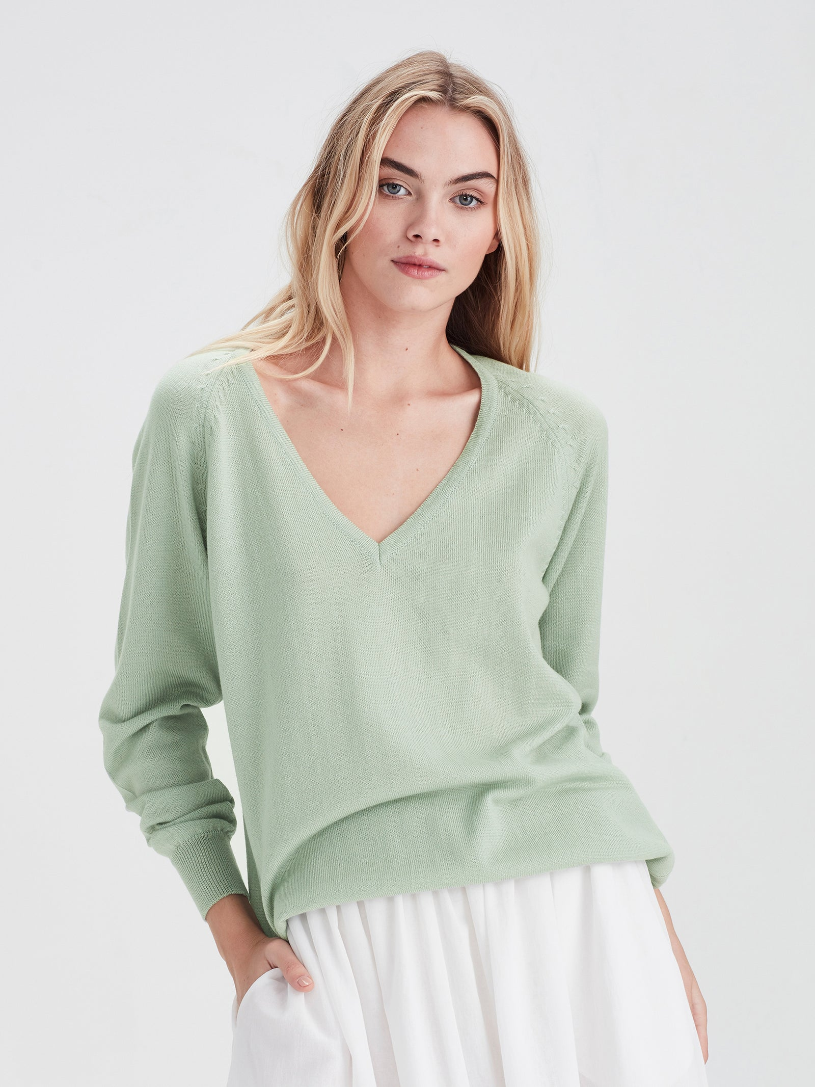 Academy Sweater (Merino Knit) Mint