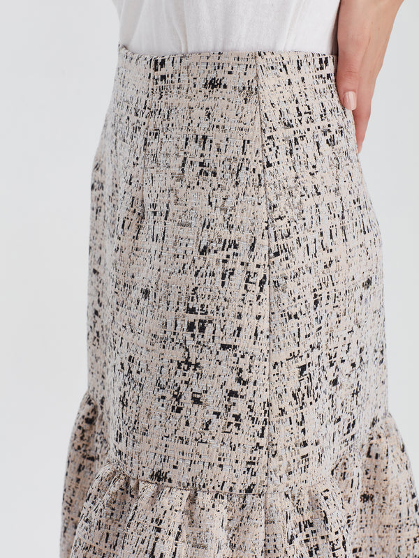 Ines Skirt (Paris Tweed) Gold Leaf