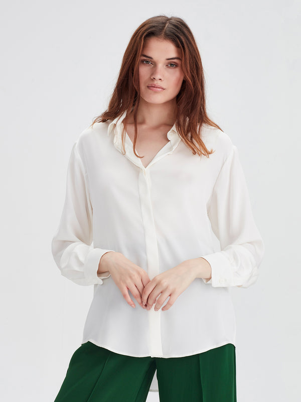 Beau Shirt (Silky) White