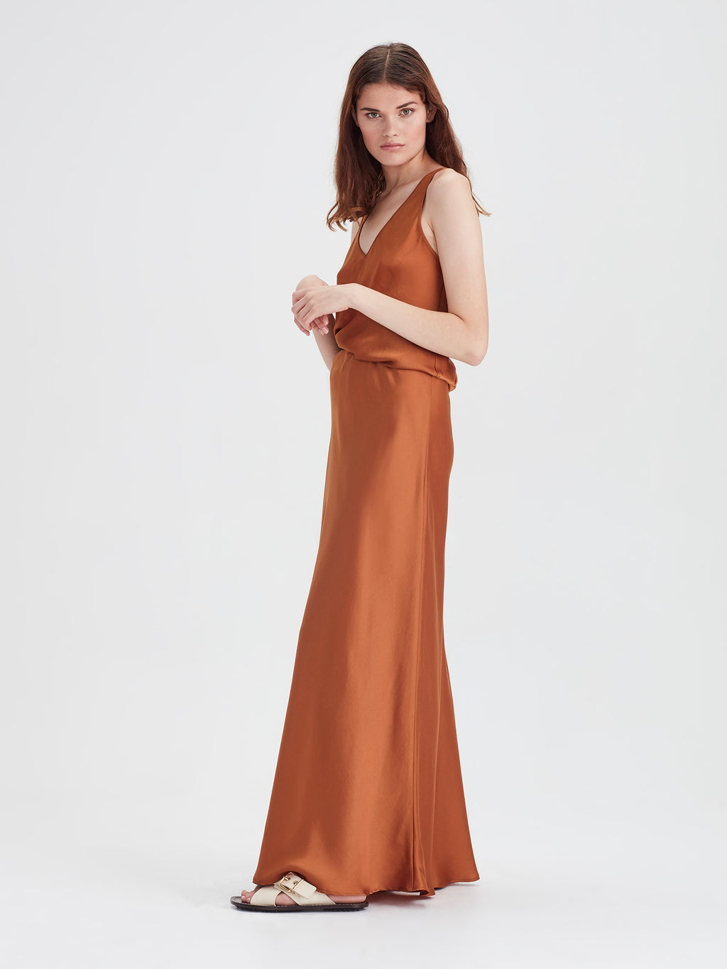Arielle Skirt (Satin Triacetate) Gold