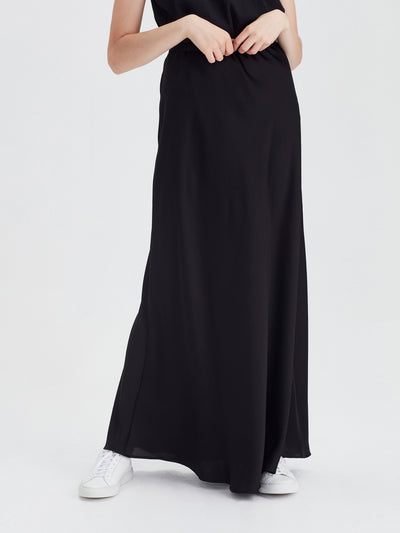 Arielle Skirt (Satin Triacetate) Black