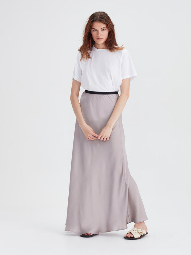 Arielle Skirt (Satin Triacetate) Smoke
