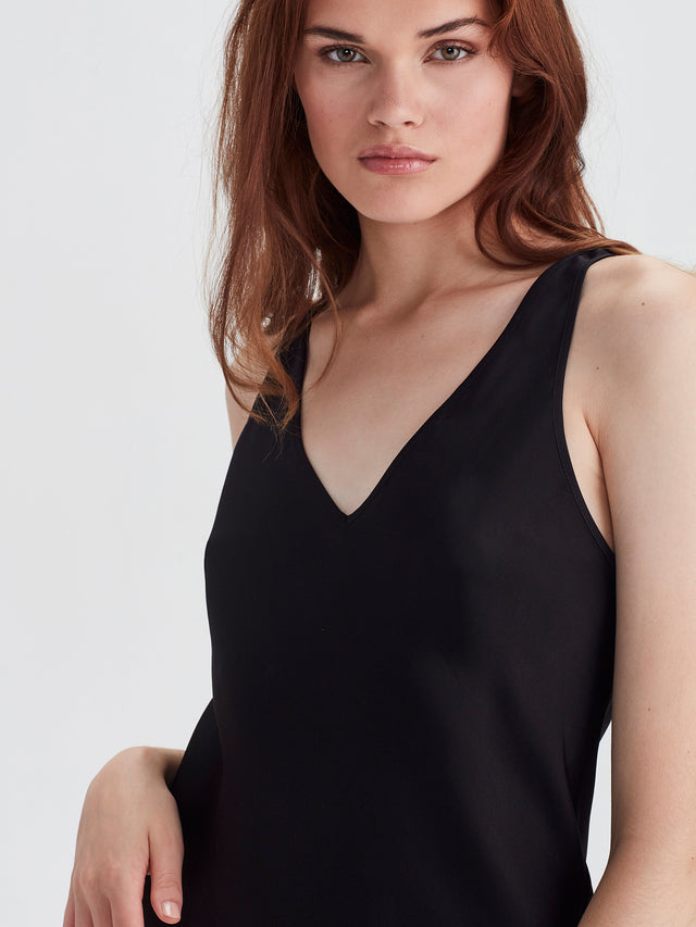 Versa Slip (Satin Triacetate) Black