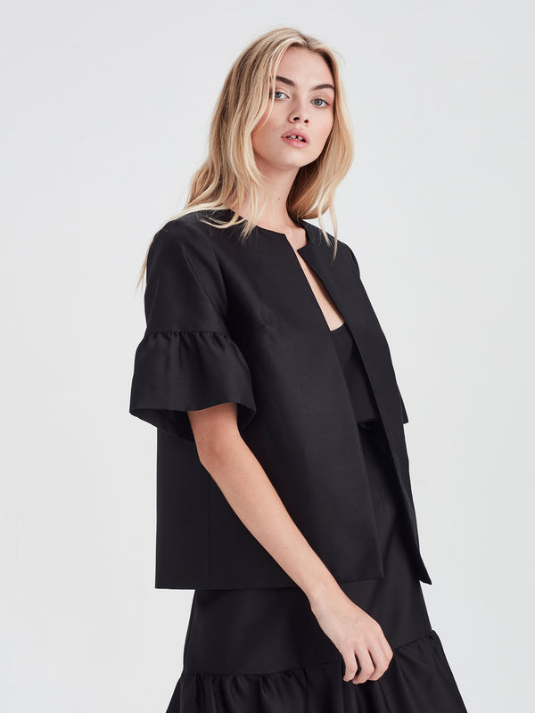 Manon Jacket (Cotton Silk) Black