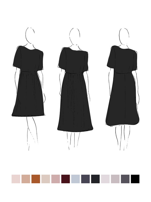 Alba Dress (Satin Triacetate) Black