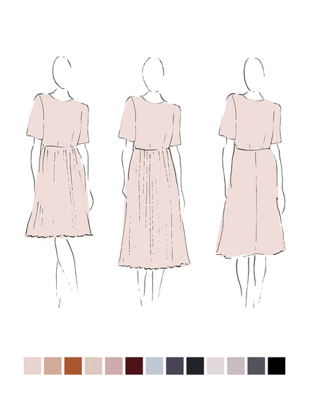 Meredith Dress (Summer Linen) Ink
