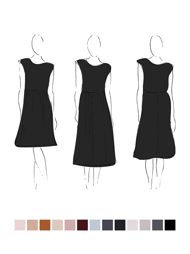 Ella Dress (Satin Triacetate) Black