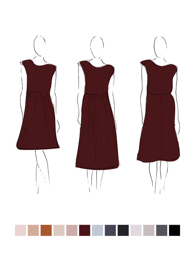 Ella Dress (Satin Triacetate) Wine 3