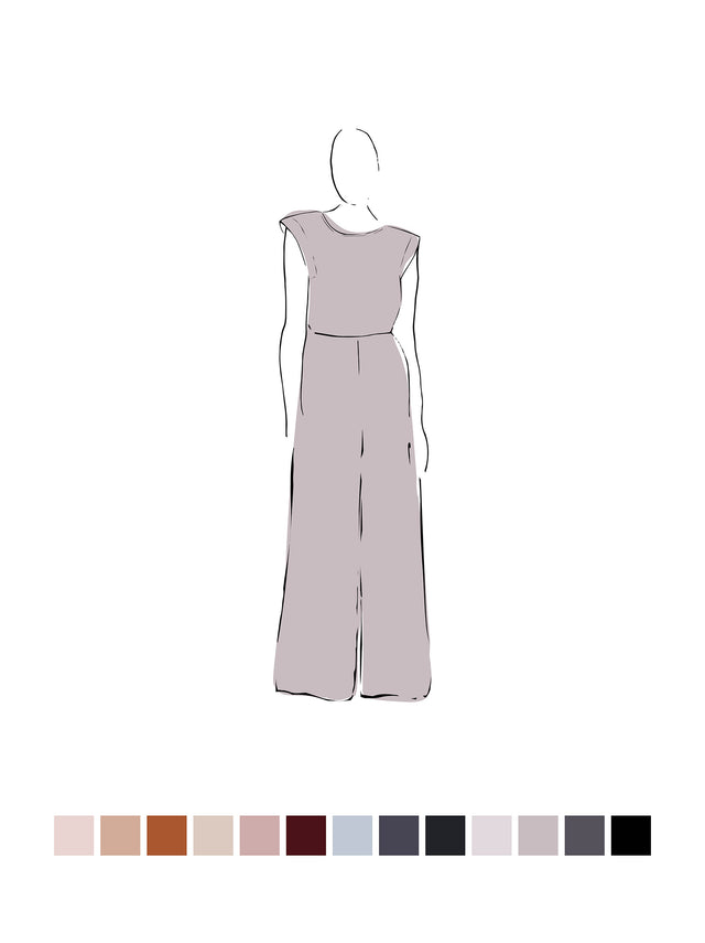 Ella Jumpsuit (Satin Triacetate) Smoke 2