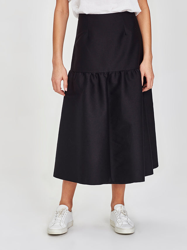Ines Skirt (Cotton Silk) Black