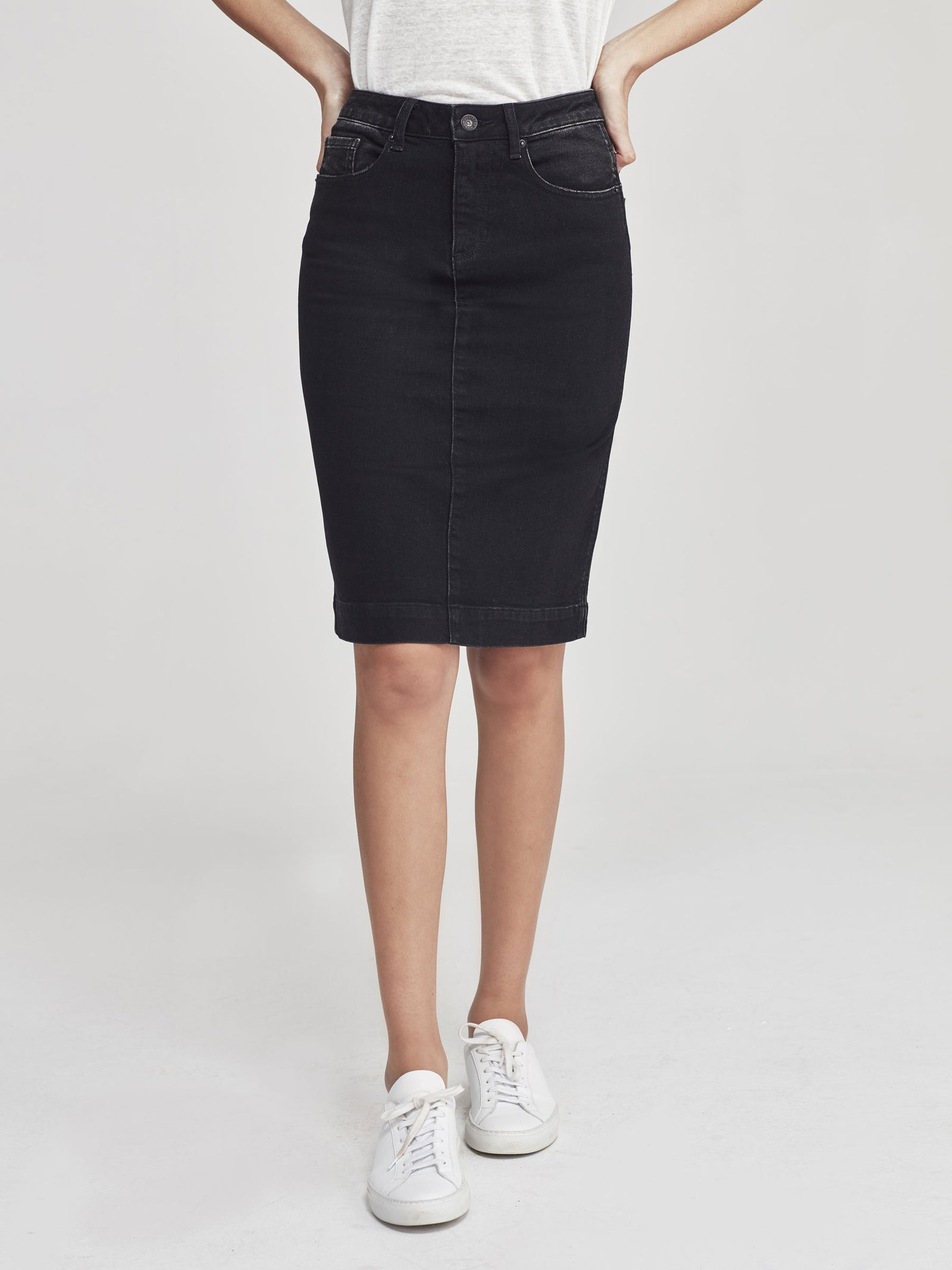 Denim Skirt (Denim) Black Enzyme