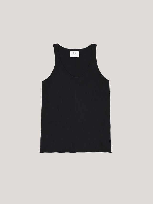JHL Tank (Fine Cotton Cashmere) Black