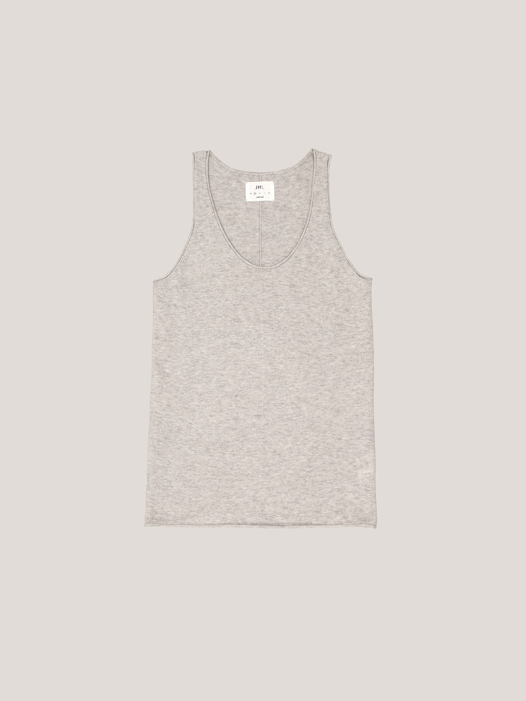 JHL Tank (Fine Cotton Cashmere) Soft Grey Marle