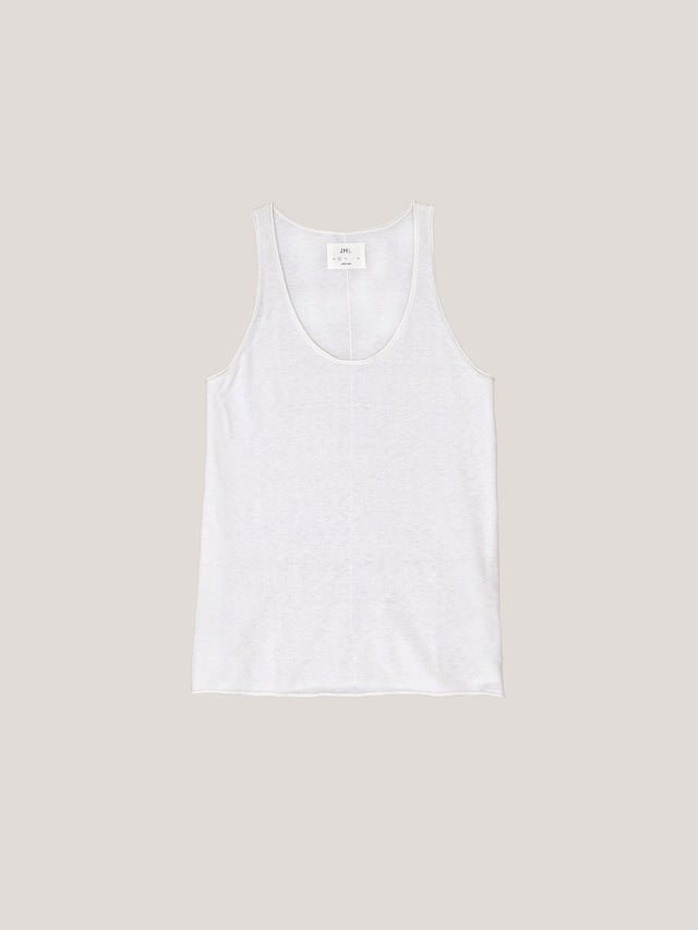JHL Tank (Fine Cotton Cashmere) White