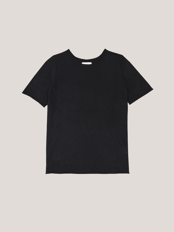 JHL Crew T (Fine Cotton Cashmere) Black