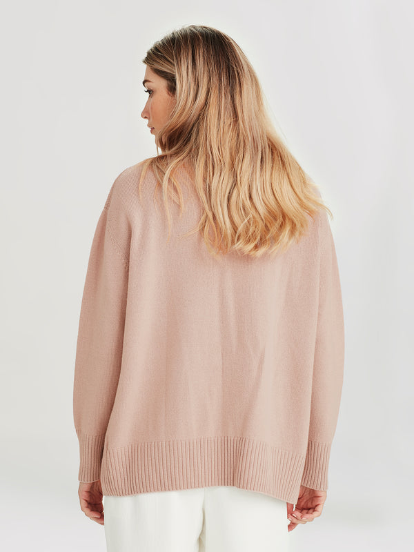 Marvin Cashmere Cardi (Cashmere) Crumble