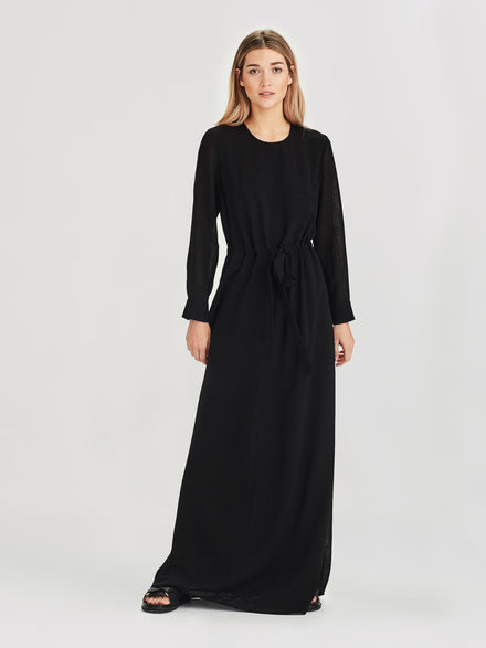 Samira Dress (Cross Hatch ) Black