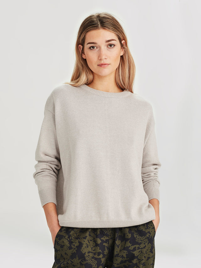 Cotton Sweatshirt (Cotton Knit) Stone